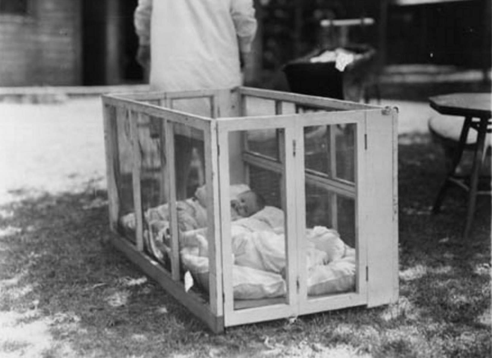 1915-The Gables Summer Camp-Baby in crib