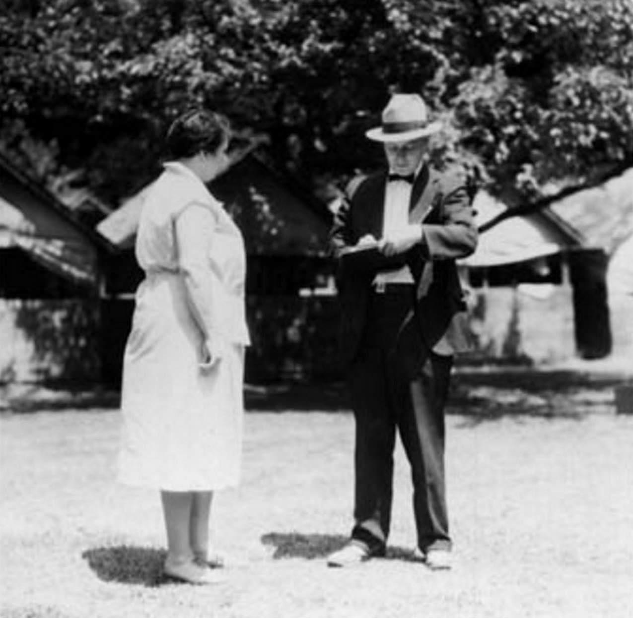 1925-c-Tollendale-Allandale-The Gables Camp-Inspector-inspecting the Camp in Allandale-located off Tollendale Rd.