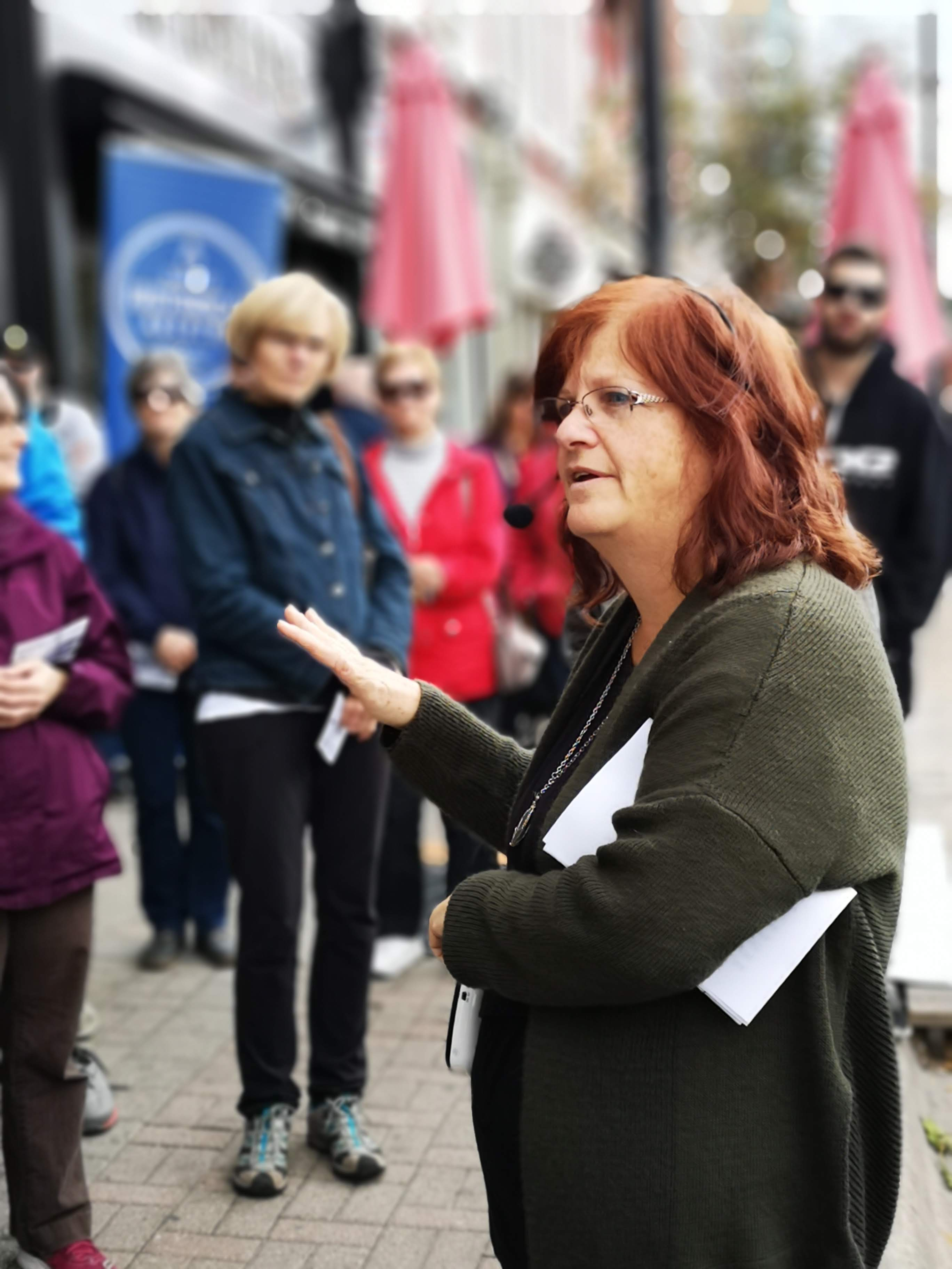 Mary Harris tells the history of buildings in Barrie's downtown core.
